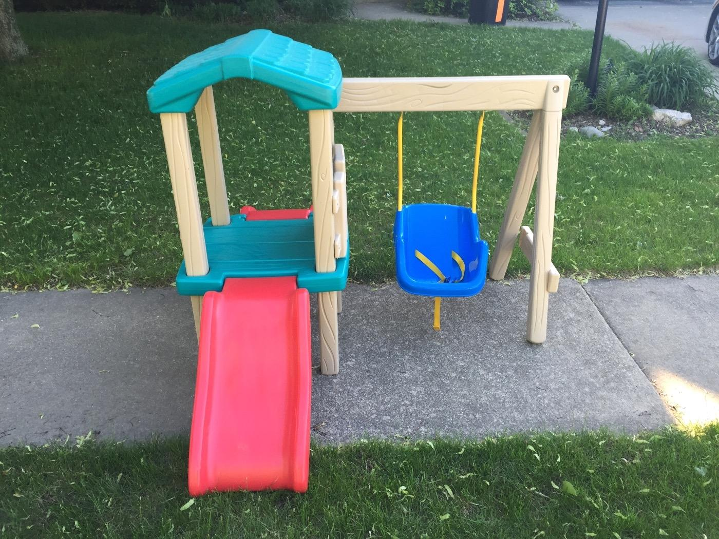 little tikes swing set instructions