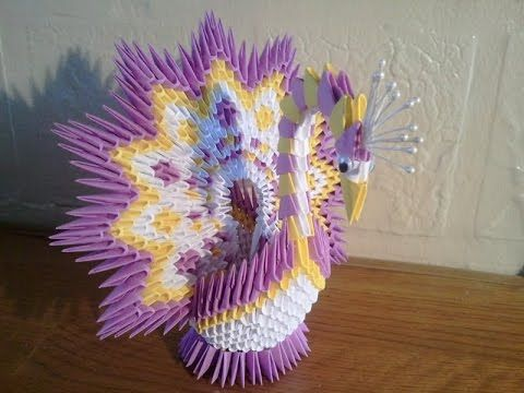 3d origami peacock instructions