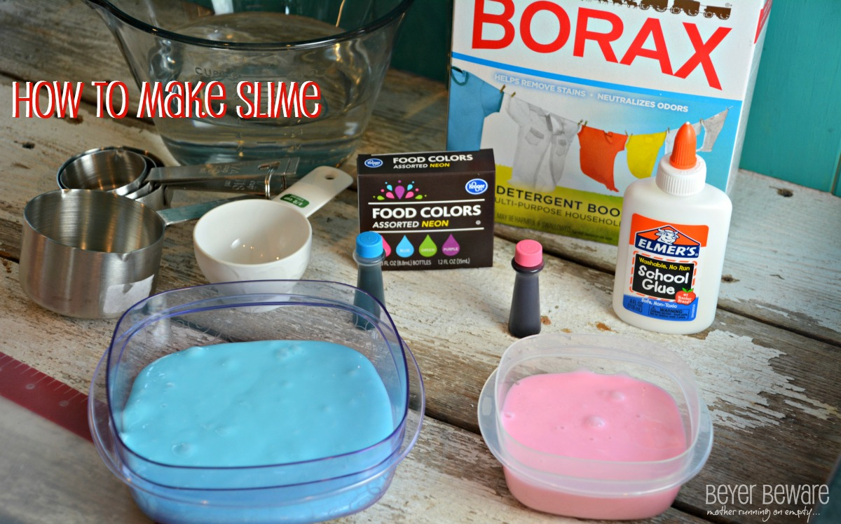 instructions to make slime