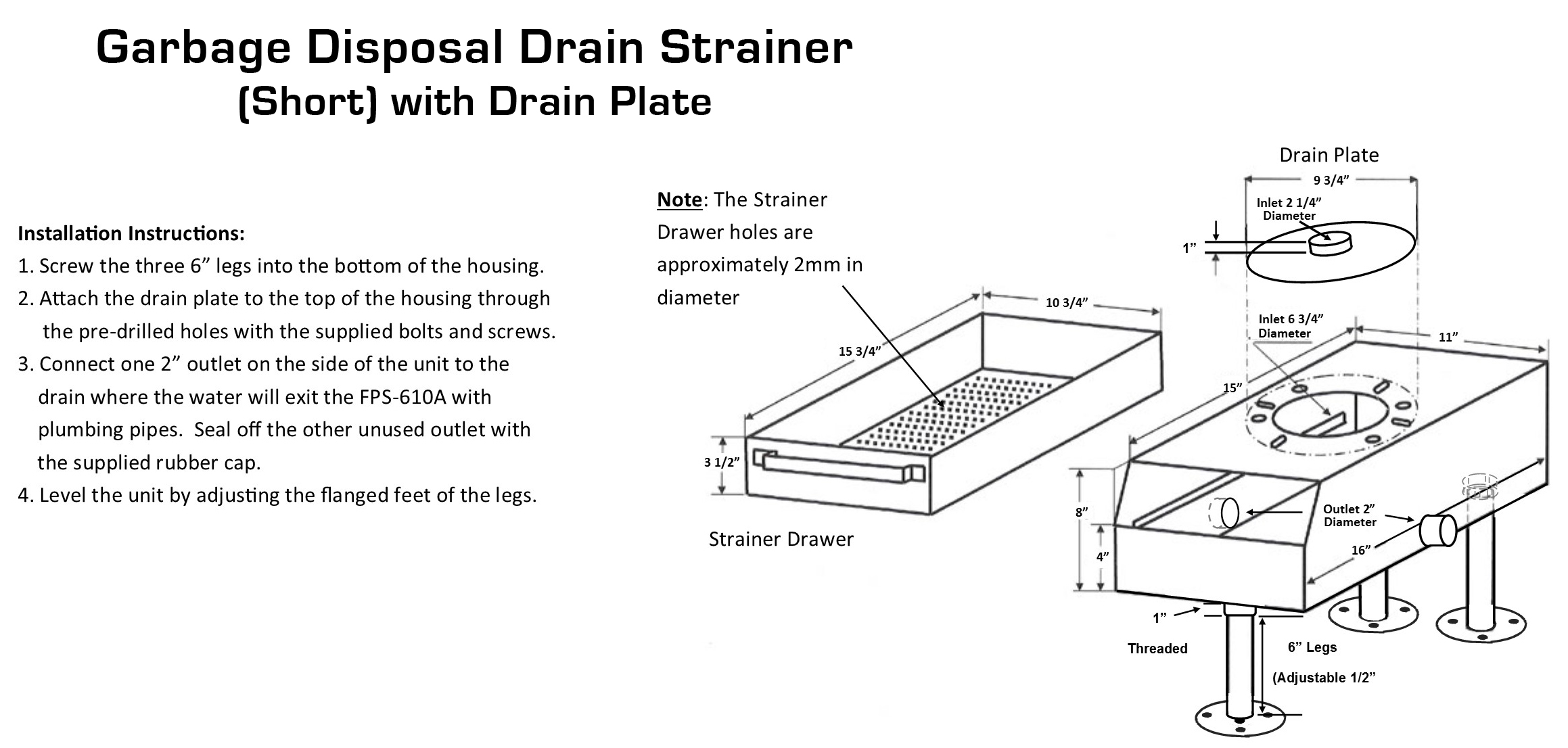 garbage disposal installation instructions