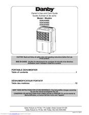 danby dehumidifier operating instructions