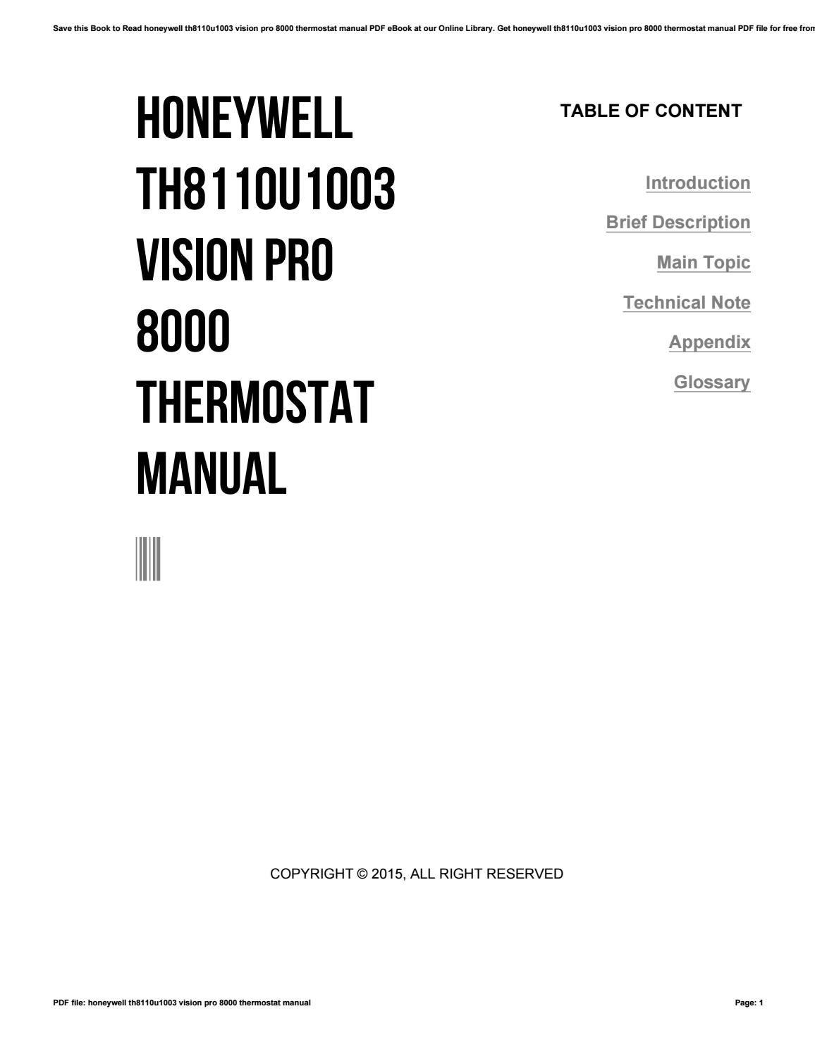 honeywell thermostat instructions pdf