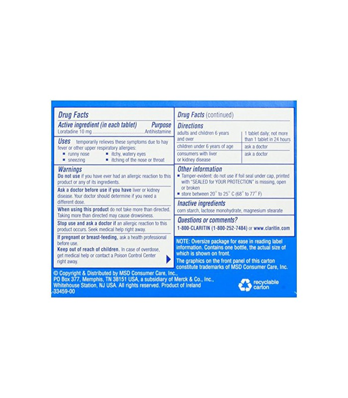 claritin 10mg dosage instructions