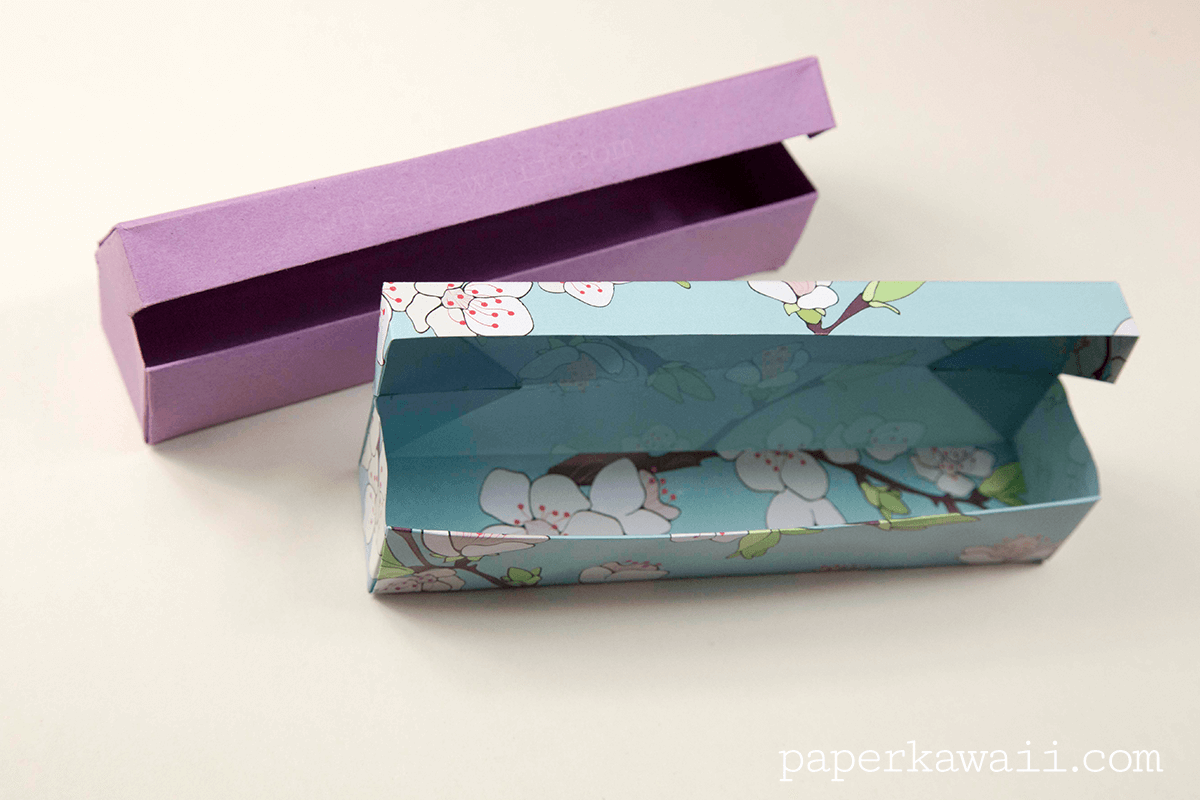 origami pencil case instructions