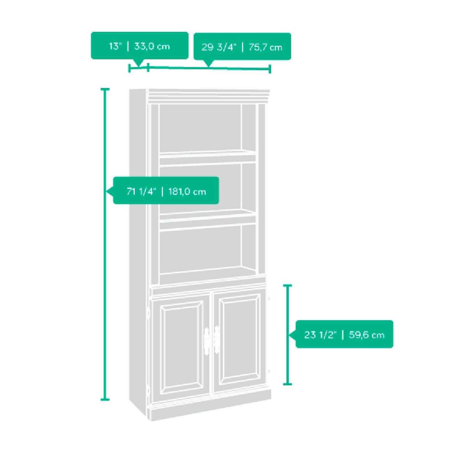 sauder library with doors instructions