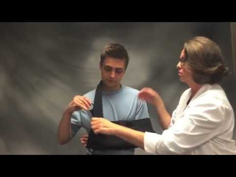 shoulder immobilizer with abduction pillow instructions
