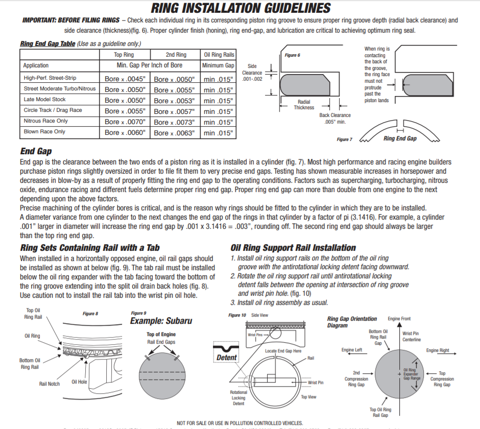 piston ring installation instructions