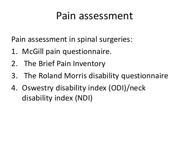 brief pain inventory scoring instructions
