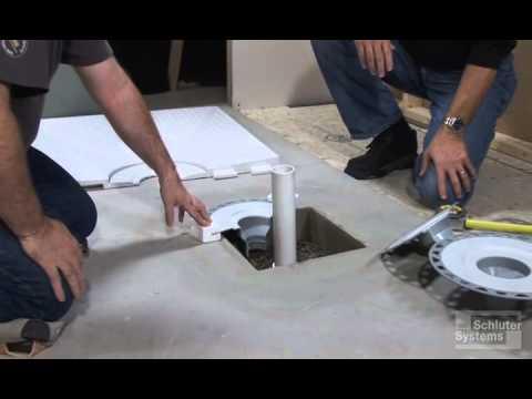 kerdi drain installation instructions