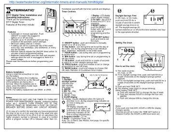 grasslin water heater timer instructions