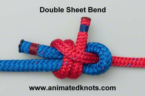 double sheet bend knot instructions