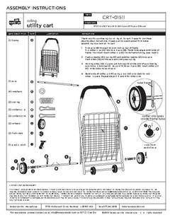 mainstays rolling utility shopping cart instructions