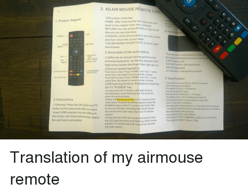 4g air mouse remote control instructions