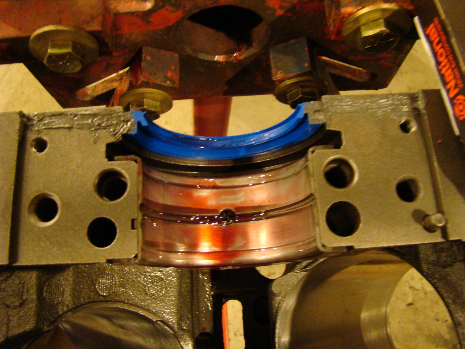 rear main seal chevy 350 instructions
