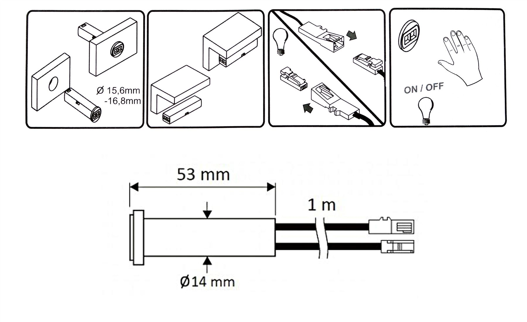 fluorescent light installation instructions