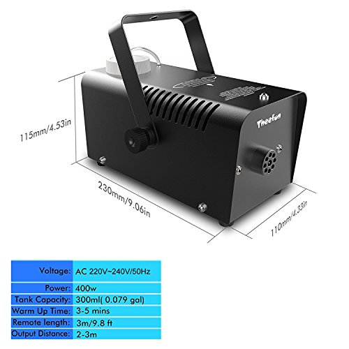 400 watt fog machine instructions