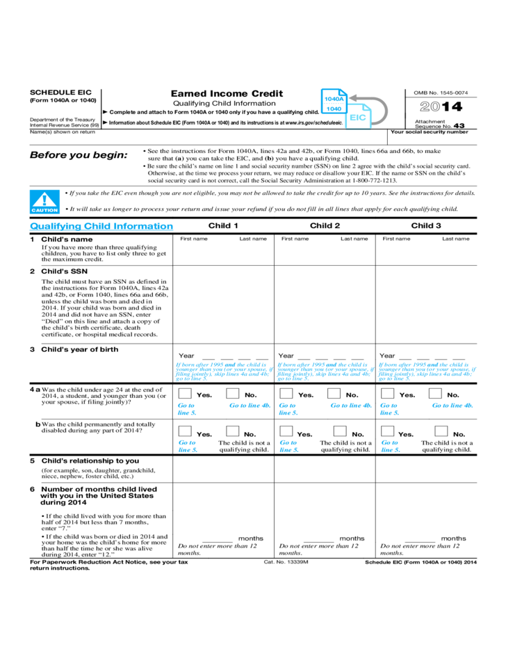 2014 income tax return instructions