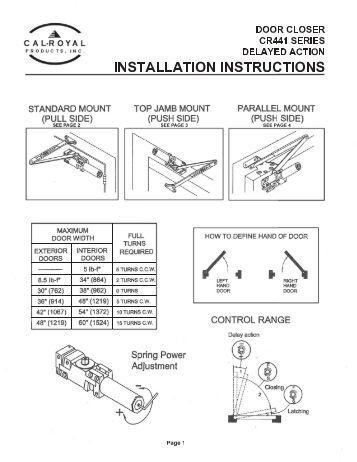 dorma door closer adjustment instructions