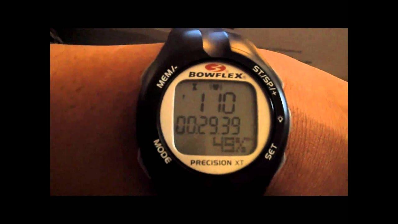 bowflex precision xt heart rate monitor instructions