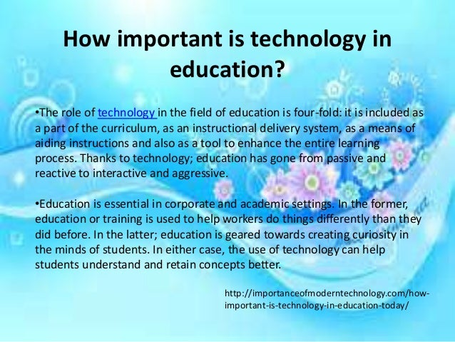 role of instructional technology in education
