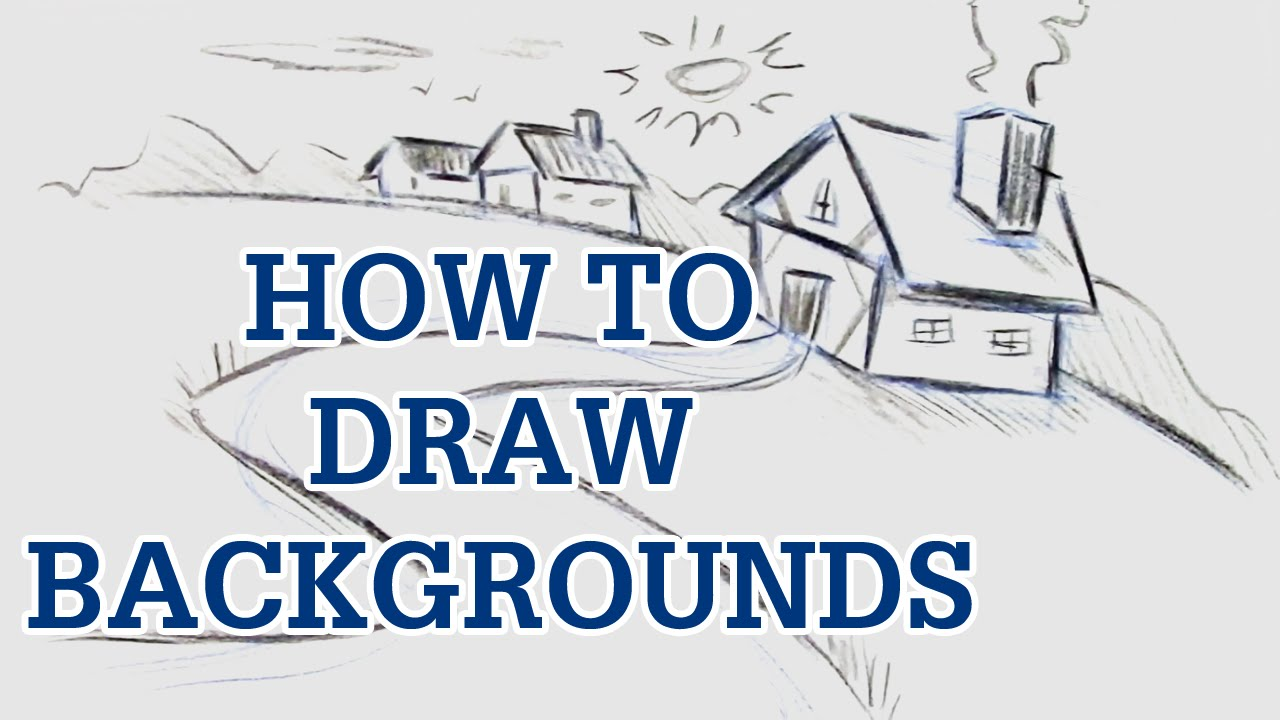 instructions to draw a house