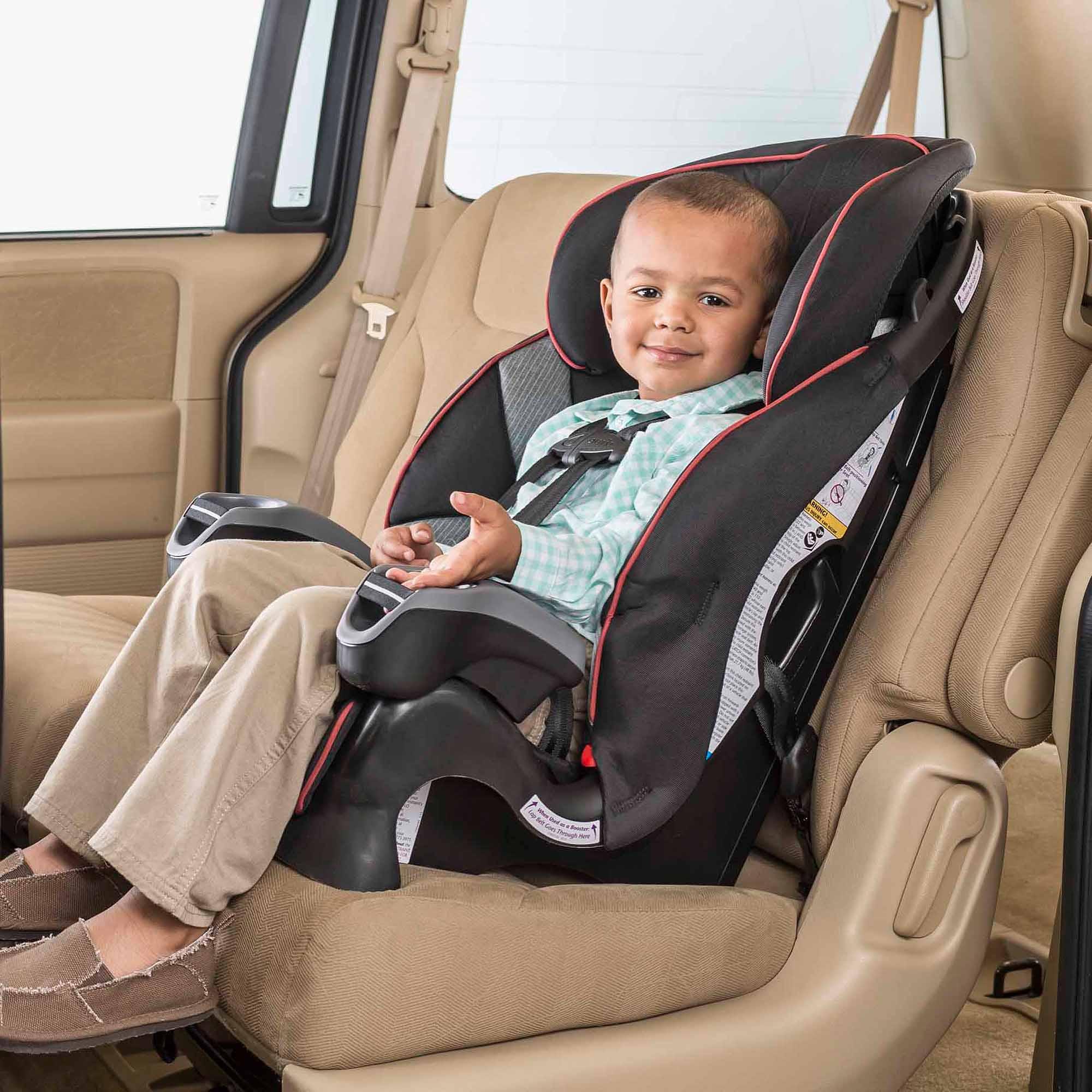 evenflo car seat strap instructions