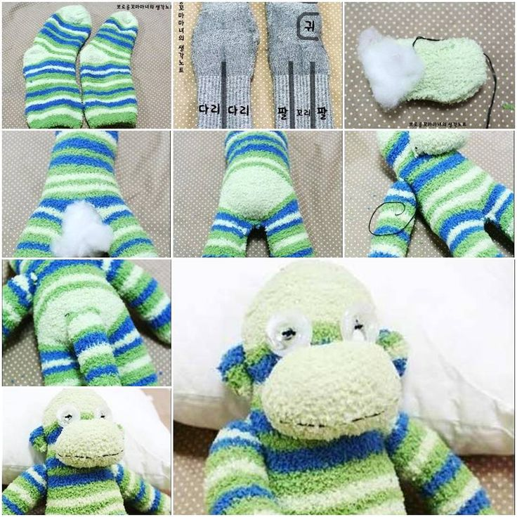 sock snowman step by step instructions