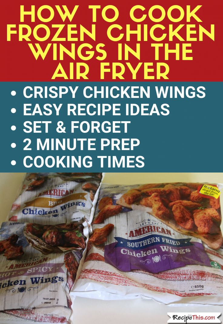 frozen chicken wings cooking instructions