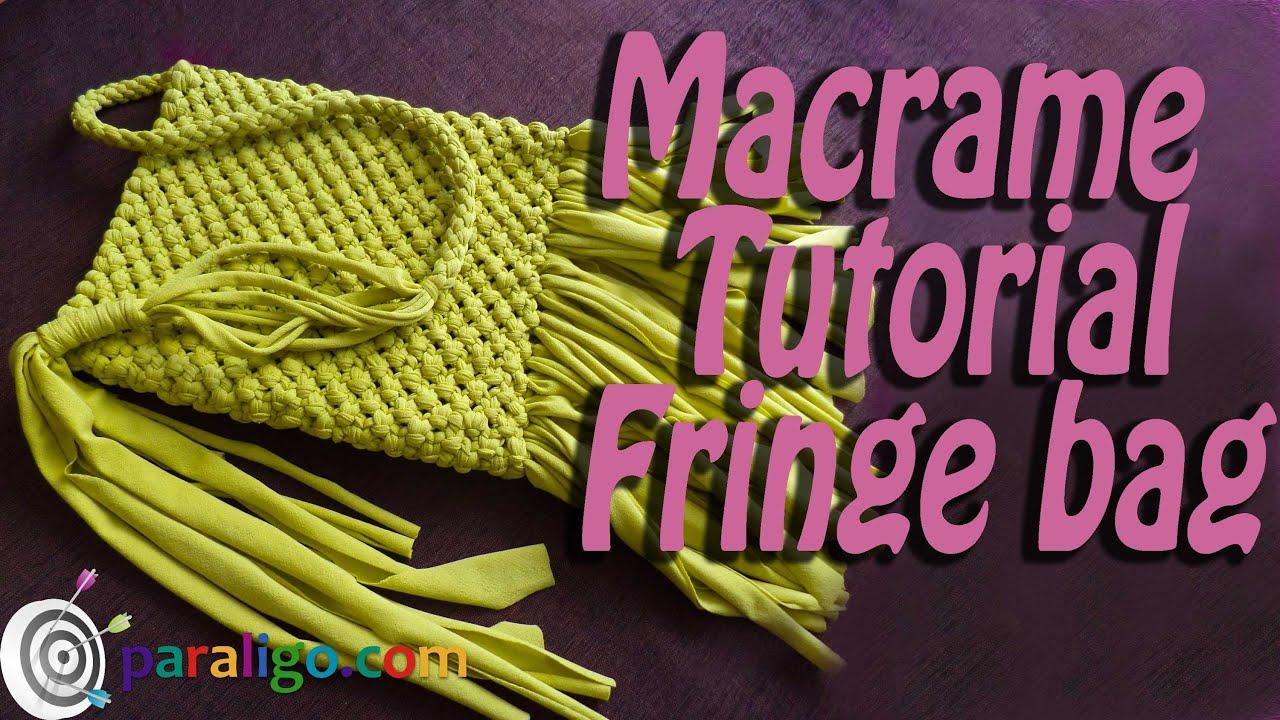 macrame bag instructions video