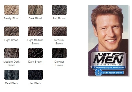 just for men hair color instructions