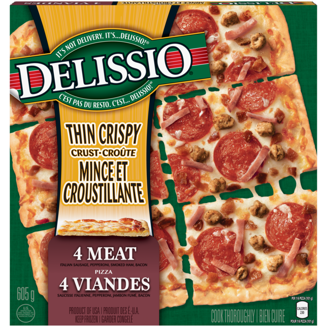 delissio pizza cooking instructions