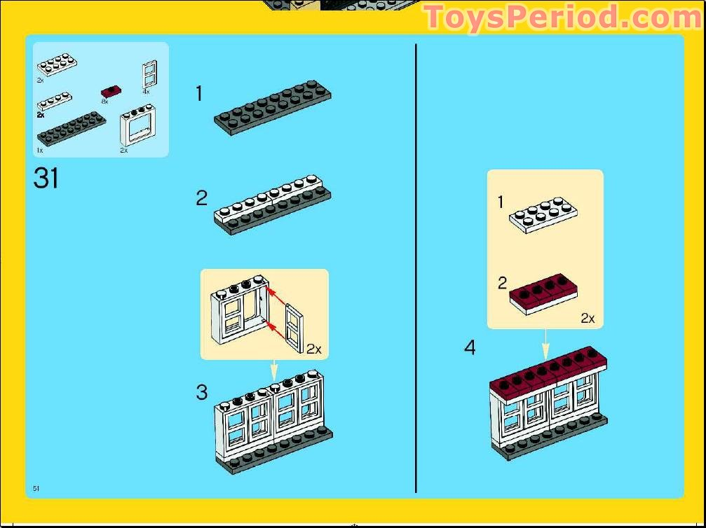 lego creator 3 in 1 house instructions