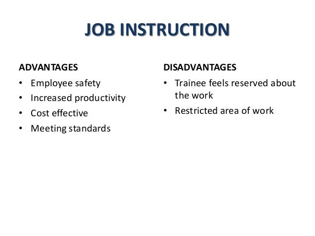job instruction training method
