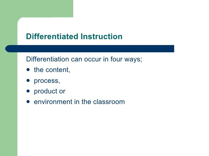 differentiated instruction for diverse learners