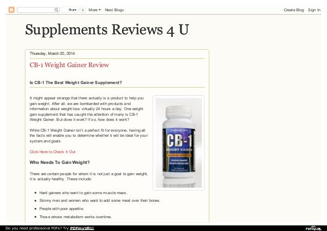 cb1 weight gainer instructions