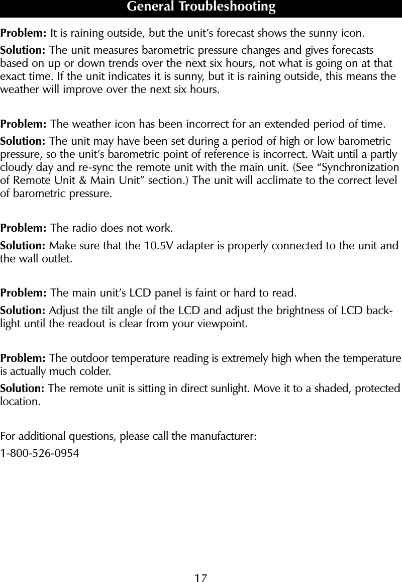 sharper image clock instructions