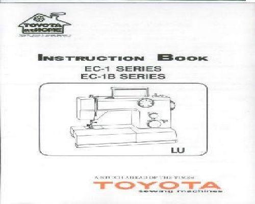 toyota 2400 sewing machine instructions