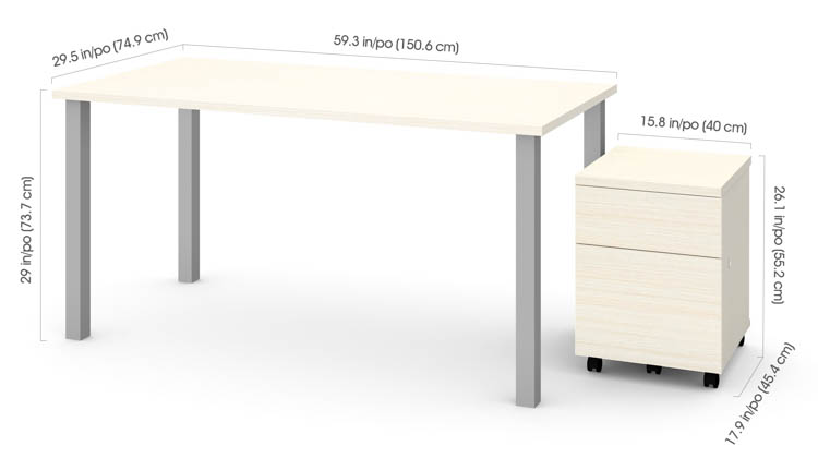 bestar desk assembly instructions