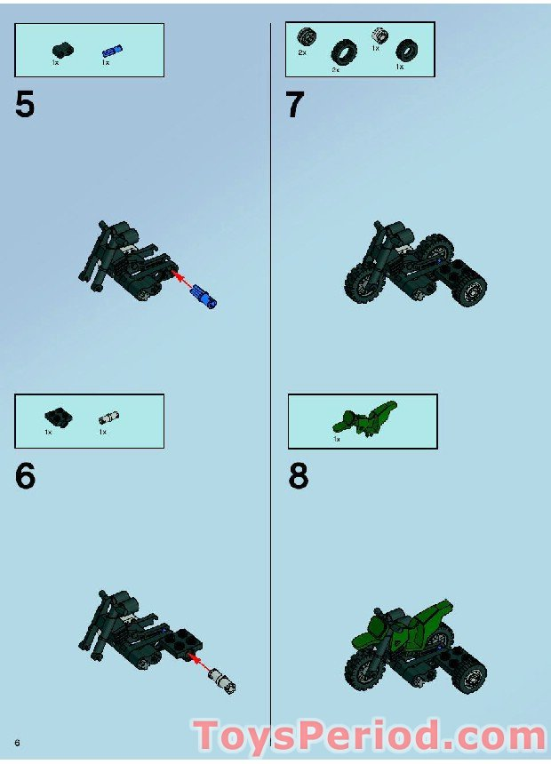 lego bat bike instructions
