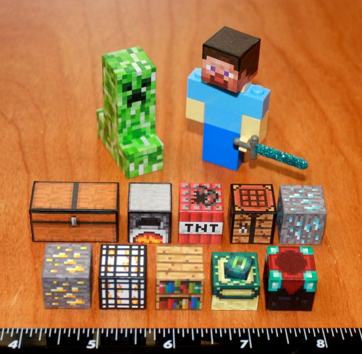 lego minecraft pickaxe inspiration instructions