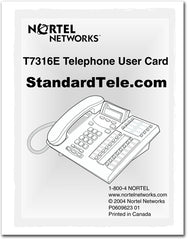 nortel t7316e instruction manual