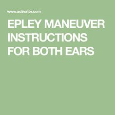 epley maneuver instructions with pictures