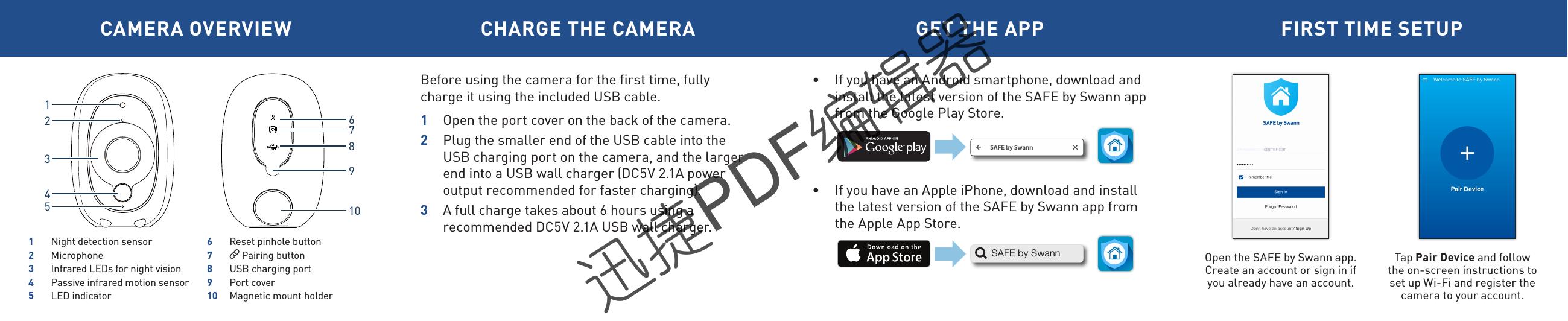 swann pen camera instructions