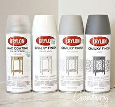 krylon chalkboard paint instructions