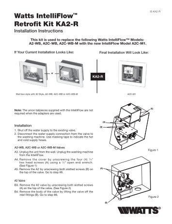 watts mixing valve instructions