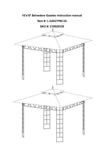 mimosa gazebo assembly instructions