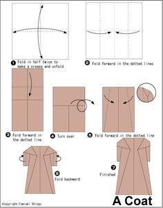 paper folding kimono instructions