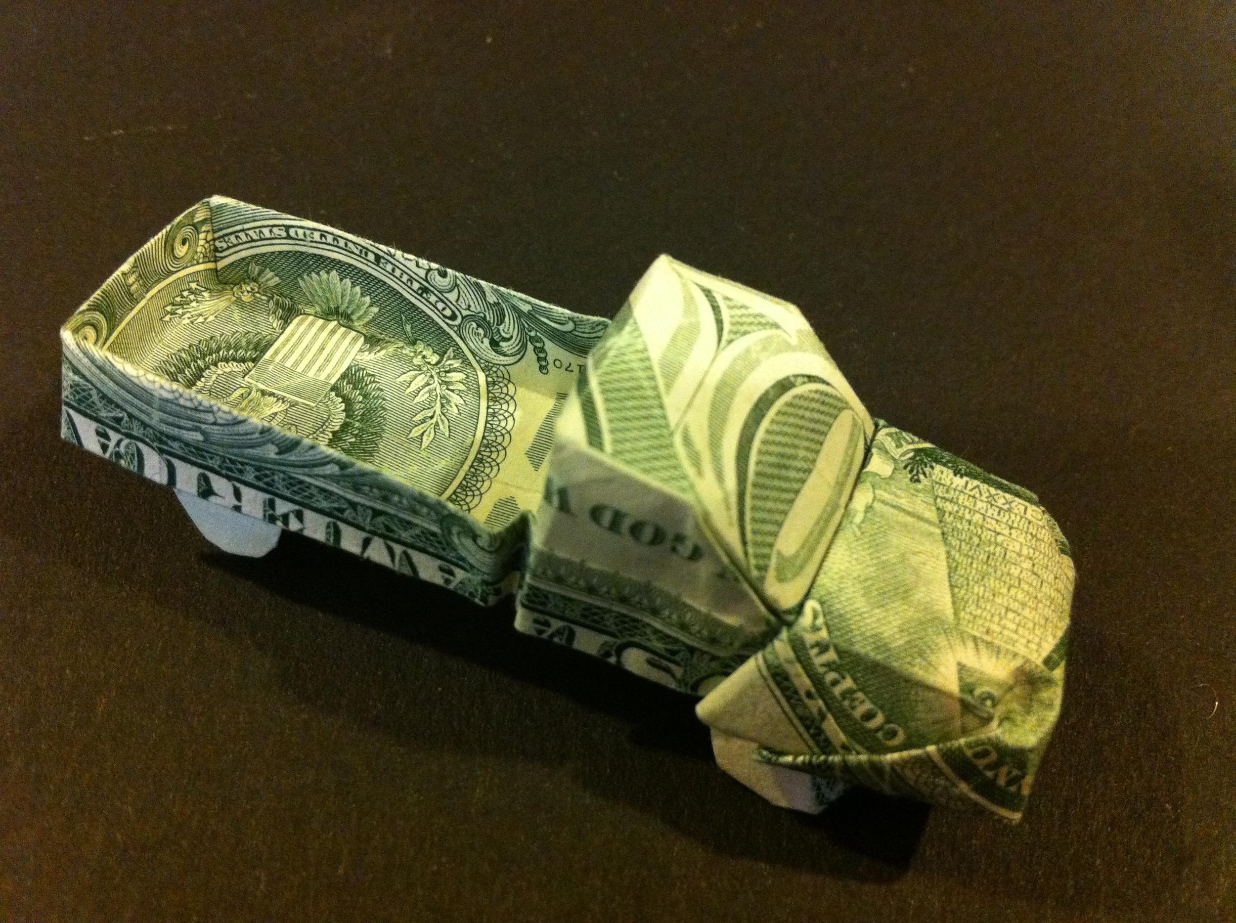 origami skull dollar bill instructions