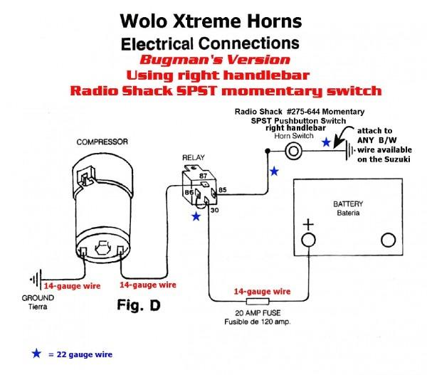 fiamm horn installation instructions