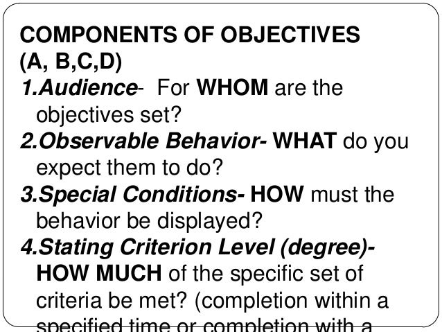instructional objectives as learning outcomes pdf